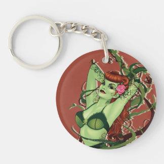 Poison Ivy Bombshell Double-Sided Round Acrylic Key Ring