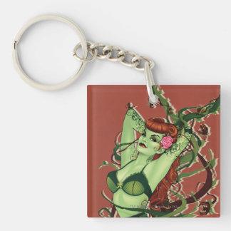 Poison Ivy Bombshell Double-Sided Square Acrylic Key Ring