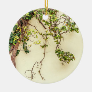 Poison Ivy On A Yellow Wall Ceramic Ornament