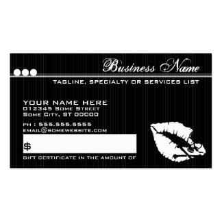 poison lips gift certificate business card template