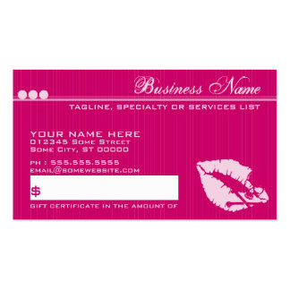 poison lips giftcard business card templates