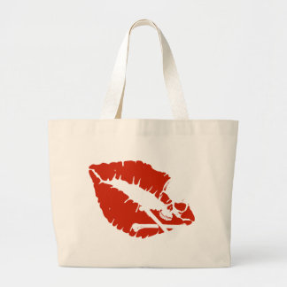 poison lips large tote bag