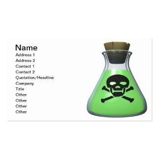Poison Pack Of Standard Business Cards