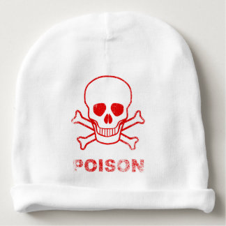 Poison Red Ink Stamp Baby Beanie