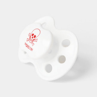 Poison Red Ink Stamp Baby Pacifiers