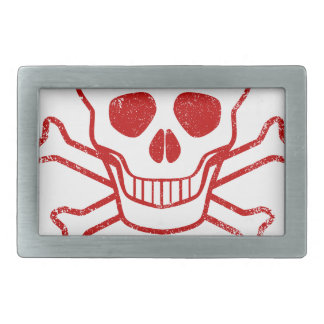Poison Red Ink Stamp Belt Buckles