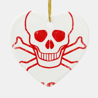 Poison Red Ink Stamp Ceramic Ornament