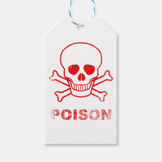 Poison Red Ink Stamp Gift Tags