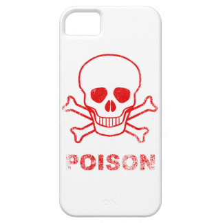 Poison Red Ink Stamp iPhone 5 Cover