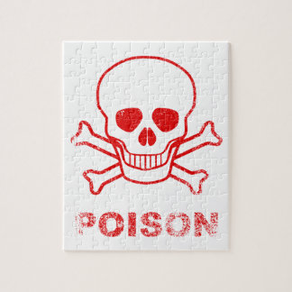 Poison Red Ink Stamp Jigsaw Puzzle