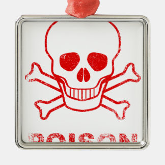Poison Red Ink Stamp Metal Ornament