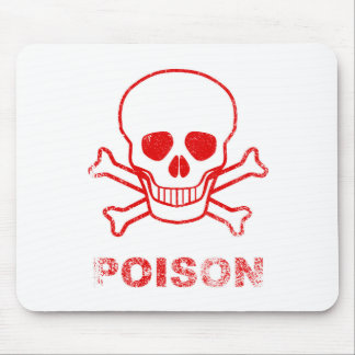 Poison Red Ink Stamp Mouse Pad