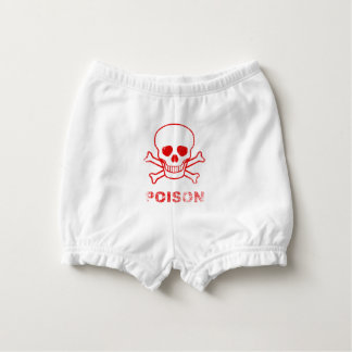 Poison Red Ink Stamp Nappy Cover
