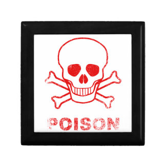 Poison Red Ink Stamp Small Square Gift Box
