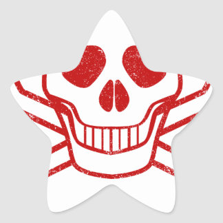 Poison Red Ink Stamp Star Sticker