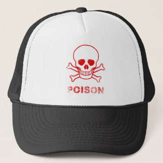 Poison Red Ink Stamp Trucker Hat