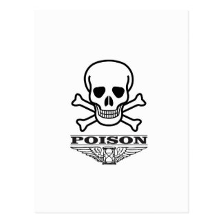 poison skull of death postcard