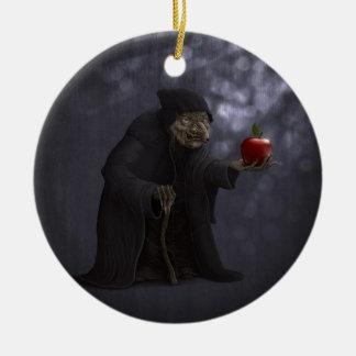 Poisoned apple ceramic ornament