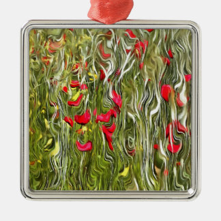 Poisoned Poppies Metal Ornament