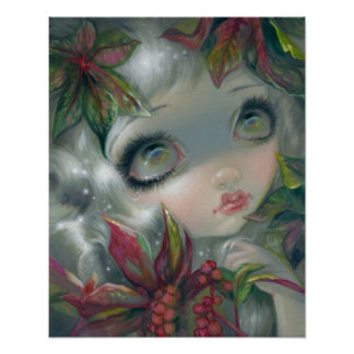Poisonous Beauties 8:  Castor Bean Fairy Art PRINT