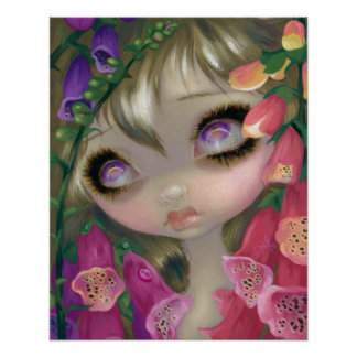 Poisonous Beauties 9: Foxgloves fairy ART PRINT