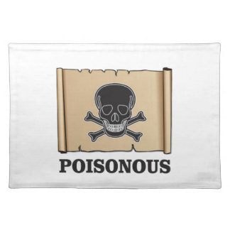 poisonous bones placemat
