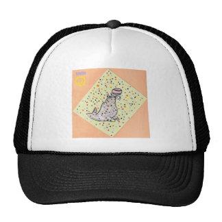 poke a dot seal trucker hat