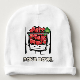 Poke bowl Hawaii raw fish salad chopsticks aku Baby Beanie
