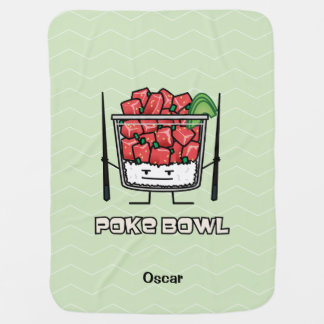 Poke bowl Hawaii raw fish salad chopsticks aku Baby Blanket