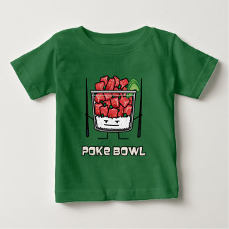 Poke bowl Hawaii raw fish salad chopsticks aku Baby T-Shirt