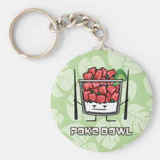 Poke bowl Hawaii raw fish salad chopsticks aku Key Ring