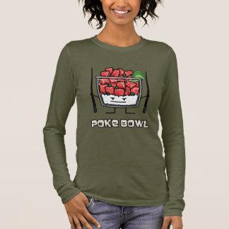 Poke bowl Hawaii raw fish salad chopsticks aku Long Sleeve T-Shirt