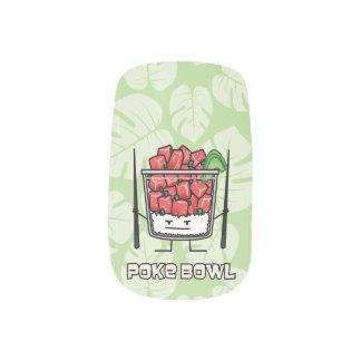 Poke bowl Hawaii raw fish salad chopsticks aku Minx Nail Art