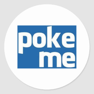 Poke Me Round Stickers