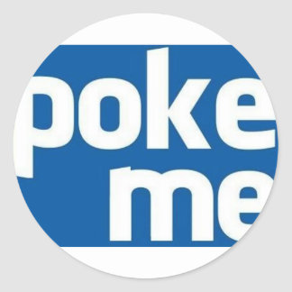 Poke Me Round Sticker