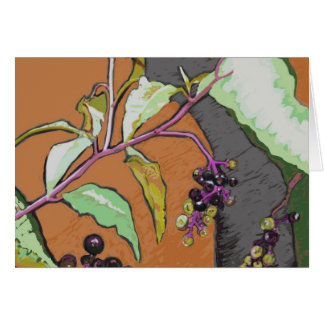 Pokeberry Native Plant Note Card