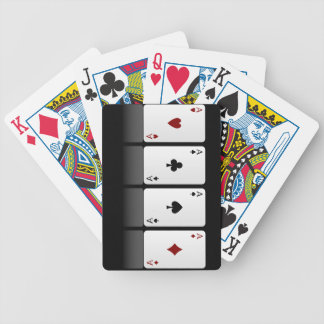 Poker aces bicycle playing cards