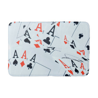 Poker,_Aces,_Medium_Memory_Foam_Bathroom_Mat. Bath Mats
