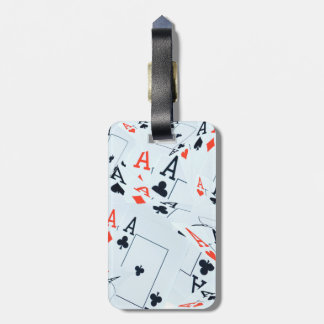 Poker,_Aces,_Pattern,_ Luggage Tag