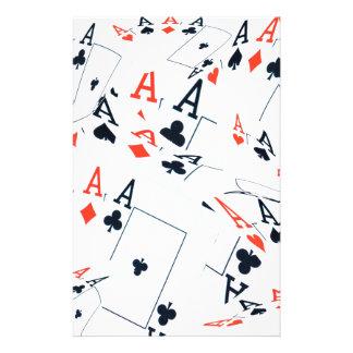 Poker,_Aces,_Pattern,_ Stationery