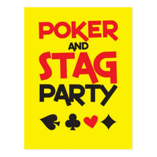 Poker and STAG party greeting card Postcards