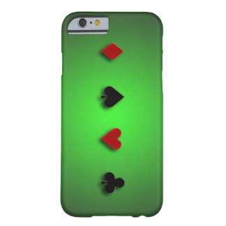 poker background casino cards clubs hearts spades barely there iPhone 6 case