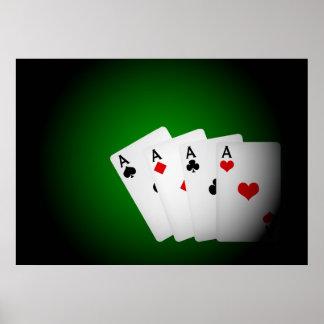 Poker Background Poster