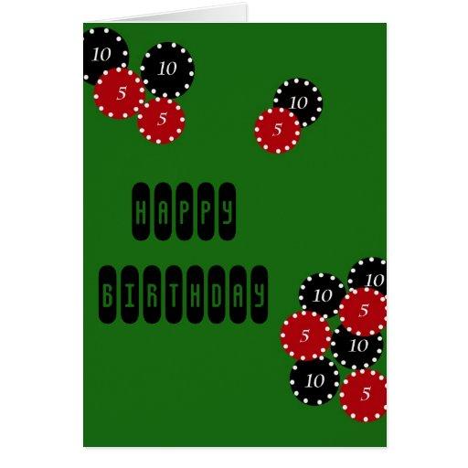 Poker Birthday Card
