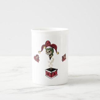 Poker Box Joker Zombie Skull Bone China Mug