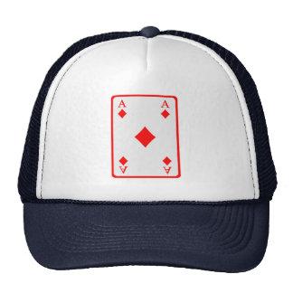 Poker card ace mesh hats