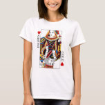 Poker Card Queen & King of Hearts Wedding Gift T-Shirt