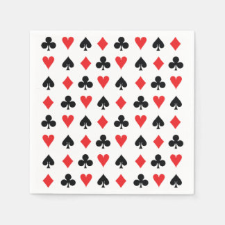 Poker Card Suits Disposable Napkin