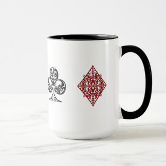 Poker card suits mug