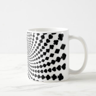 Poker Card Suits Spiral: Coffee Mug: Black Jack Coffee Mug